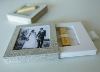 USB in luxe linnen gift-box